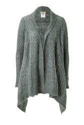 Michael Kors Mohair Blend Cable Knit Open Cardigan