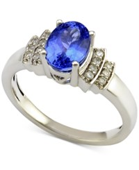 Macy's Tanzanite 1 Ct. T.W. And Diamond 1 10 Ct. T.W. Ring In 14K White Gold Purple