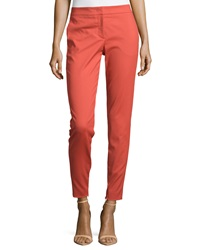 M Missoni Straight Leg Ankle Cropped Pants Red