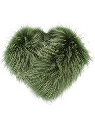 Mr And Mrs Italy Fur Collar Green