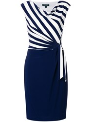 Ralph Lauren Striped Wrap Dress Blue