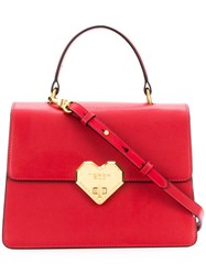 Tosca Blu Heart Lock Tote Red