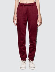 Alexander Wang Sleek French Terry Pull On Track Pant With Logo Tape
