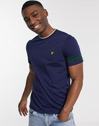 Lyle And Scott Tipped T Shirt Navy