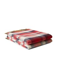 Gucci Gg And Check Throw Blanket Red