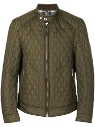Belstaff Quilted Jacket Cotton Polyester Green
