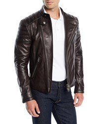 Tom Ford Icon Leather Biker Jacket Burgundy