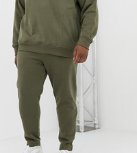 Another Influence Plus Quilted Panel Slim Fit Joggers Green