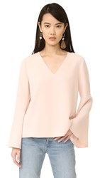 Cooper And Ella Marcela Drape Sleeve Top Pale Pink
