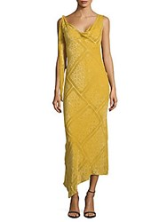 Roberto Cavalli Embroidered Sleeveless Gown Gold