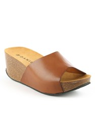 Daniel Tavernola Plain Wedge Mules Brown