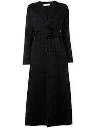 Bally Single Breasted Belted Coat Black