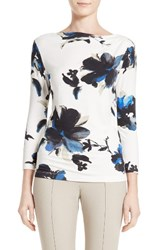St. John Women's Collection Painted Oleander Jersey Tee
