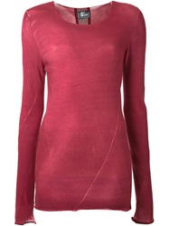 Lost And Found Contrasting Back Panel Sweater Red