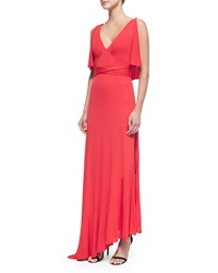 Tracy Reese Cold Shoulder High Slit Gown