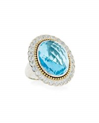Lagos Sky Blue Topaz And White Sapphire Statement Ring Multi