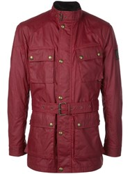 Belstaff Multi Pocket Shirt Jacket Red