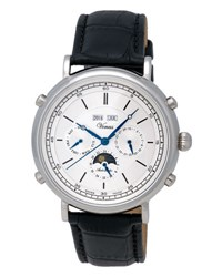 Venus Of Switzerland Classico Full Calendar Automatic Chronograph Watch Silver