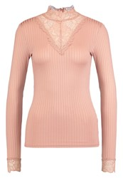 Y.A.S Yas Yasblace Long Sleeved Top Mahogany Rose