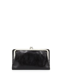 Hobo Diane Leather Continental Wallet Black