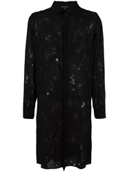 Ann Demeulemeester Elongated Lace Shirt Black