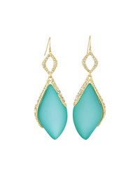 Alexis Bittar Crystal Encrusted Marquise Drop Earrings Aqua Opalescent