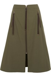 Kenzo Cotton Twill Skirt Army Green