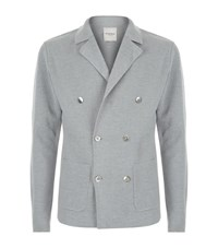 Hardy Amies Double Breasted Cardigan Male Grey