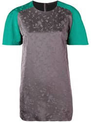 Haider Ackermann Floral Panelled Top Grey