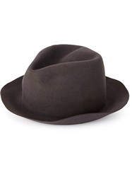 Horisaki Design And Handel Classic Fedora Hat Grey