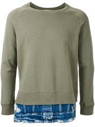 Miharayasuhiro Layered Detail Sweatshirt Green