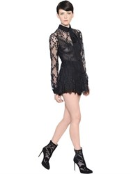 Elie Saab Lace And Silk Georgette Romper