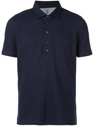 Brunello Cucinelli Front Pocket Polo Shirt Blue