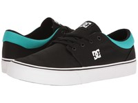 Dc Trase Tx Black Turquoise Skate Shoes