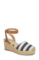 Sole Society Channing Espadrille Sandal Navy White