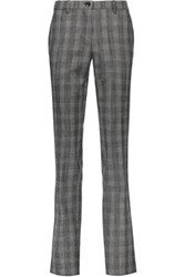 Etro Herringbone Stretch Wool Slim Leg Pants Gray