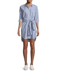 Current Elliott The Alda Striped Self Tie Shirtdress Multi