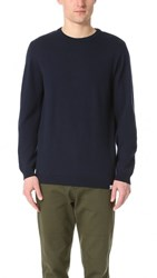 Norse Projects Sigfred Merino Crew Neck Sweater Navy