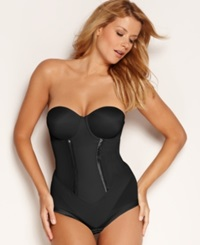 Maidenform Firm Control Bodybriefer Easy Up Strapless Body Shaper 1256 Black