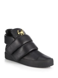 Giuseppe Zanotti Puff Double Grip Tape Leather Sneakers Black
