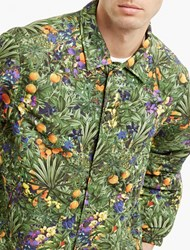 White Mountaineering Floral Lightweight Coach Jacket Green