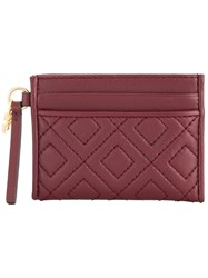 Tory Burch Fleming Slim Card Case Red
