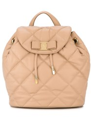 Salvatore Ferragamo 'Giuliette' Quilted Backpack Pink And Purple