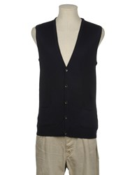 Retois Knitwear Sweater Vests Men Dark Blue