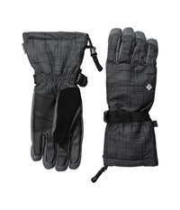 Columbia Whirlibird Ski Glove Black Tweed Plaid Print Extreme Cold Weather Gloves