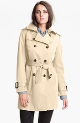 Petite Women's London Fog Heritage Trench Coat With Detachable Liner Stone