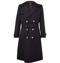 Burberry Camborne Cotton Gabardine Trench Coat With Detachable Liner Midnight Blue