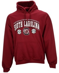 New World Graphics Men's South Carolina Gamecocks Midsize Hoodie Burgundy