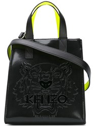 Kenzo Neon Panel Tote Women Pvc One Size Black