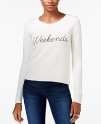 Guess Long Sleeve Graphic Sweater Scuffy